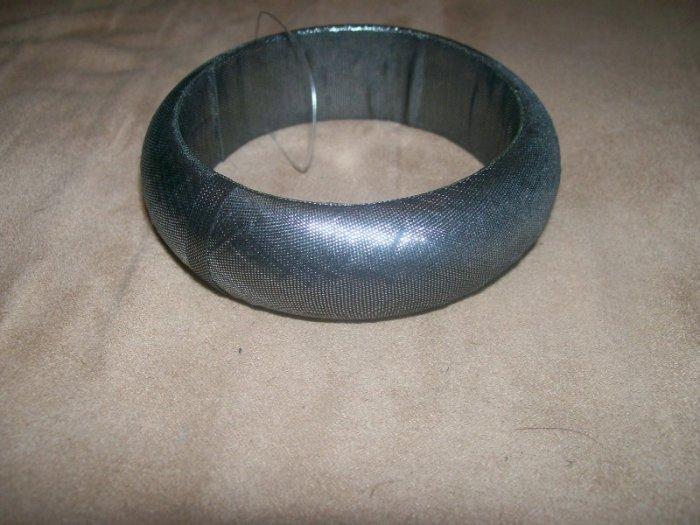 Silver Mettalic fabric Bracelet