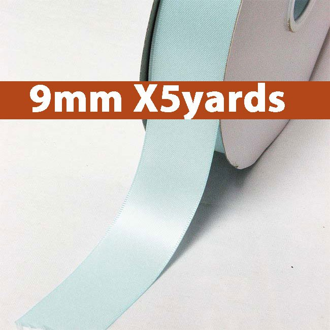# 322 ocean blue Color 9mm Wide 5 Yards 5 Double Faced Satin Ribbon (#28800 X5 Yards)