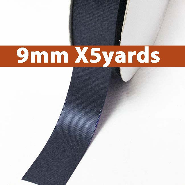 # 330 dresden blue Color 9mm Wide 5 Yards 5 Double Faced Satin Ribbon (#28800 X5 Yards)
