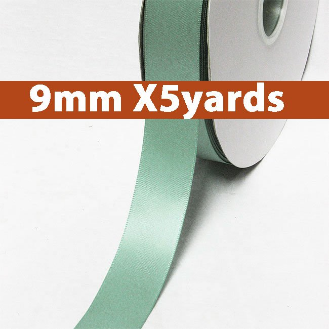 # 331 nile blue Color 9mm Wide 5 Yards 5 Double Faced Satin Ribbon (#28800 X5 Yards)