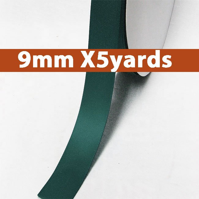# 347 teal Color 9mm Wide 5 Yards 5 Double Faced Satin Ribbon (#28800 X5 Yards)