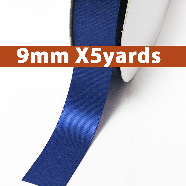 # 352 electric blue Color 9mm Wide 5 Yards 5 Double Faced Satin Ribbon (#28800 X5 Yards)