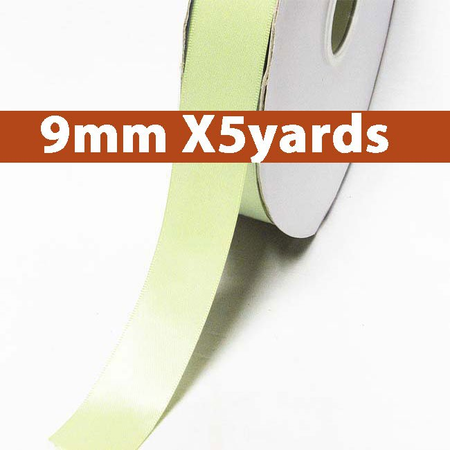 # 520 seafoam green Color 9mm Wide 5 Yards 5 Double Faced Satin Ribbon (#28800 X5 Yards)