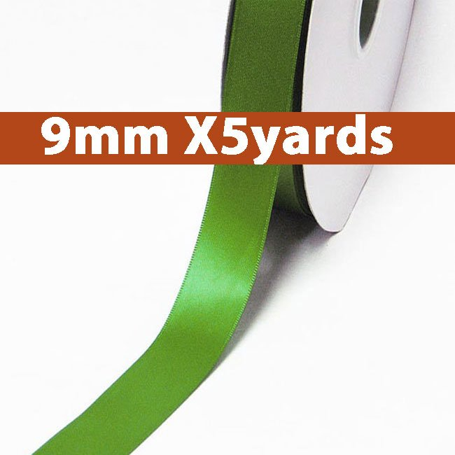 # 548 kiwi Color 9mm Wide 5 Yards 5 Double Faced Satin Ribbon (#28800 X5 Yards)