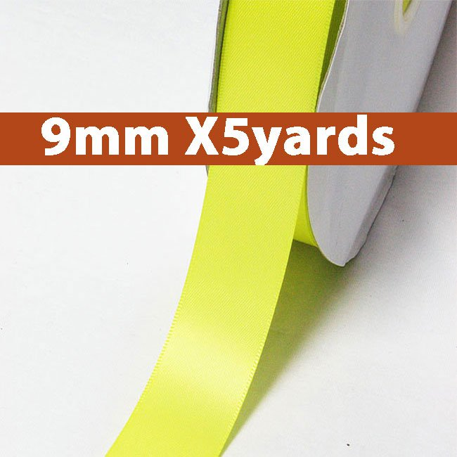 # 625 pineapple Color 9mm Wide 5 Yards 5 Double Faced Satin Ribbon (#28800 X5 Yards)
