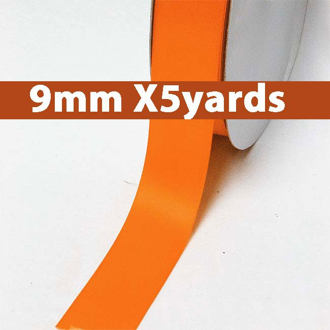 # 751 russet orange Color 9mm Wide 5 Yards 5 Double Faced Satin Ribbon (#28800 X5 Yards)