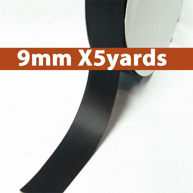 # 860 licorice Color 9mm Wide 5 Yards 5 Double Faced Satin Ribbon (#28800 X5 Yards)