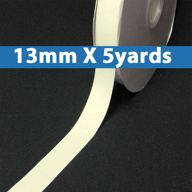 """# 028 antique whiteColor 13mm/0.5"""" Wide 5 Yards Double Faced Satin Ribbon (#28800 X5 Yards)"""