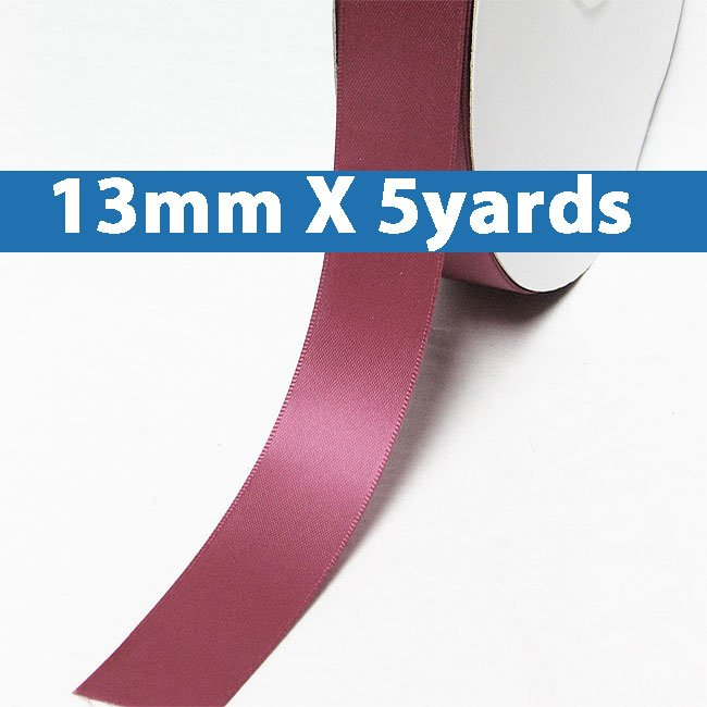 """# 174 victorian rose Color 13mm/0.5"""" Wide 5 Yards Double Faced Satin Ribbon (#28800 X5 Yards)"""