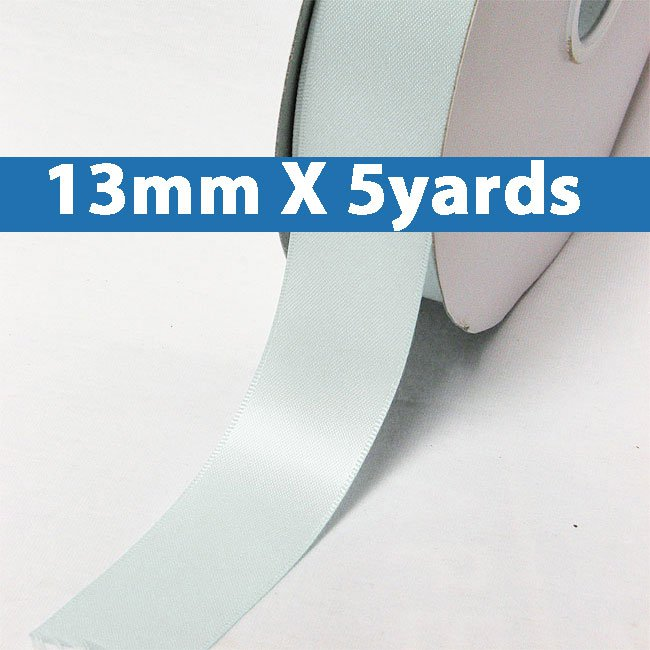 """# 303 blue vapor Color 13mm/0.5"""" Wide 5 Yards Double Faced Satin Ribbon (#28800 X5 Yards)"""