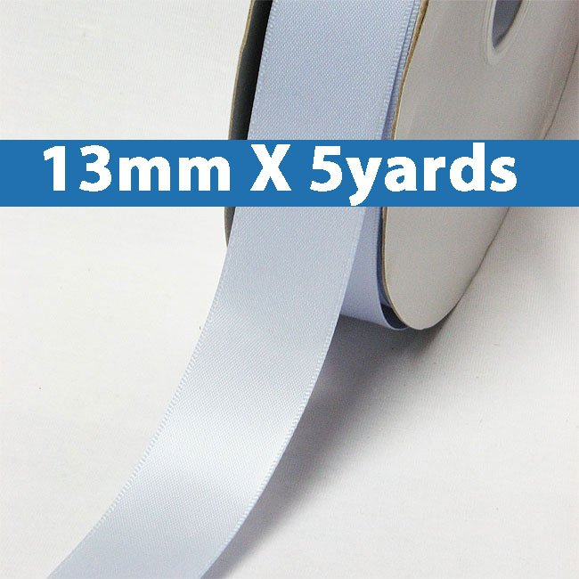 "# 307 bluebell Color 13mm/0.5"" Wide 5 Yards Double Faced Satin Ribbon (#28800 X5 Yards)"
