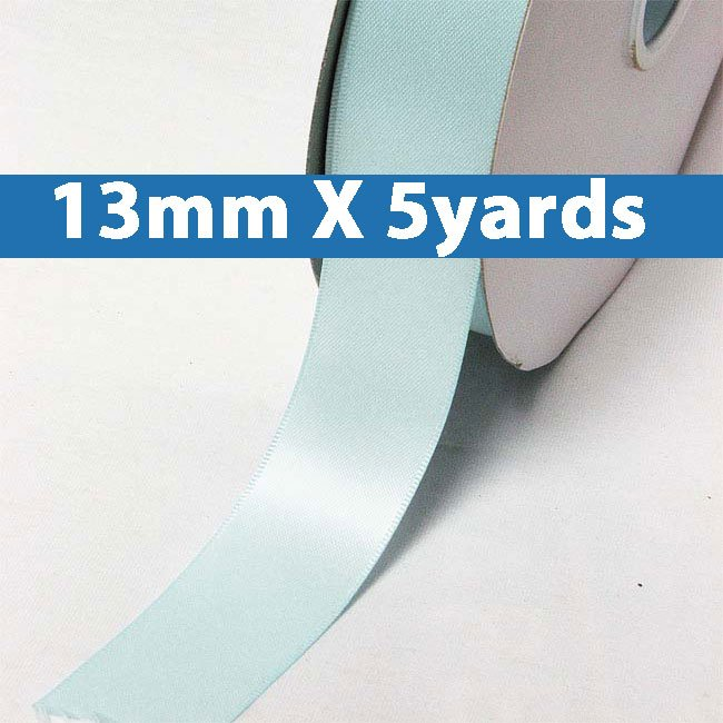 """# 322 ocean blue Color 13mm/0.5"""" Wide 5 Yards Double Faced Satin Ribbon (#28800 X5 Yards)"""