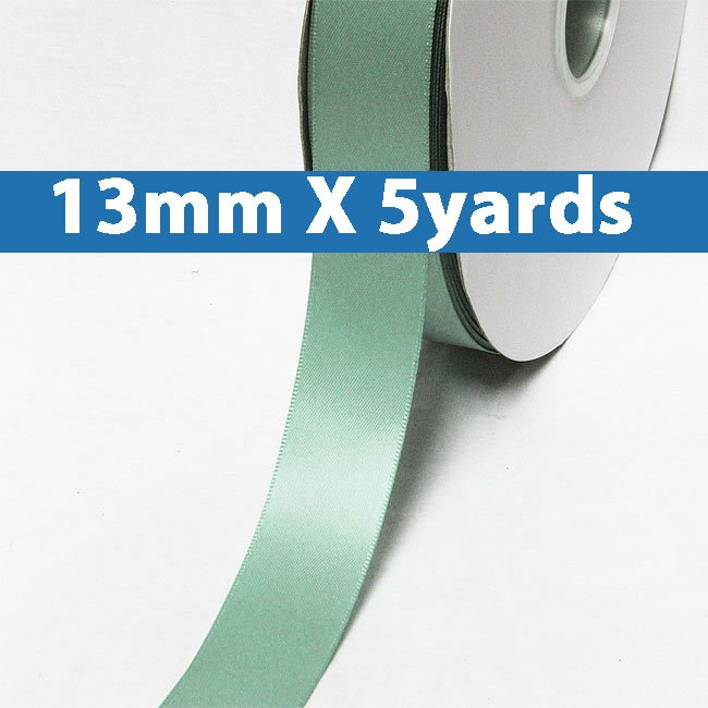 "# 331 nile blue Color 13mm/0.5"" Wide 5 Yards Double Faced Satin Ribbon (#28800 X5 Yards)"