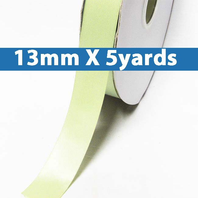 """# 520 seafoam green Color 13mm/0.5"""" Wide 5 Yards Double Faced Satin Ribbon (#28800 X5 Yards)"""