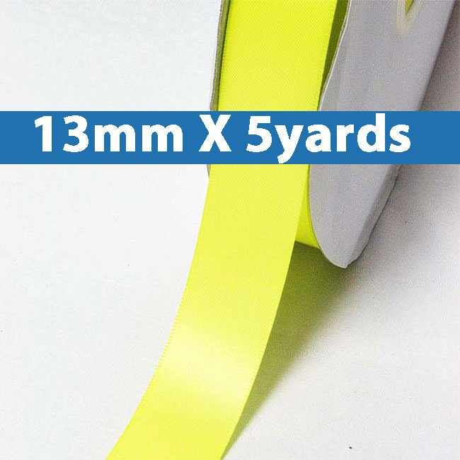 """# 525 pistachio Color 13mm/0.5"""" Wide 5 Yards Double Faced Satin Ribbon (#28800 X5 Yards)"""