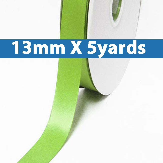 """# 551 jasmine green Color 13mm/0.5"""" Wide 5 Yards Double Faced Satin Ribbon (#28800 X5 Yards)"""