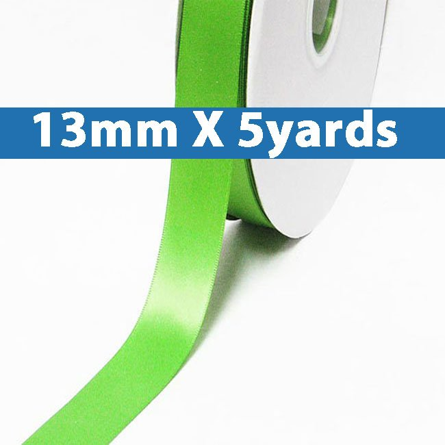 """# 555 green flash Color 13mm/0.5"""" Wide 5 Yards Double Faced Satin Ribbon (#28800 X5 Yards)"""