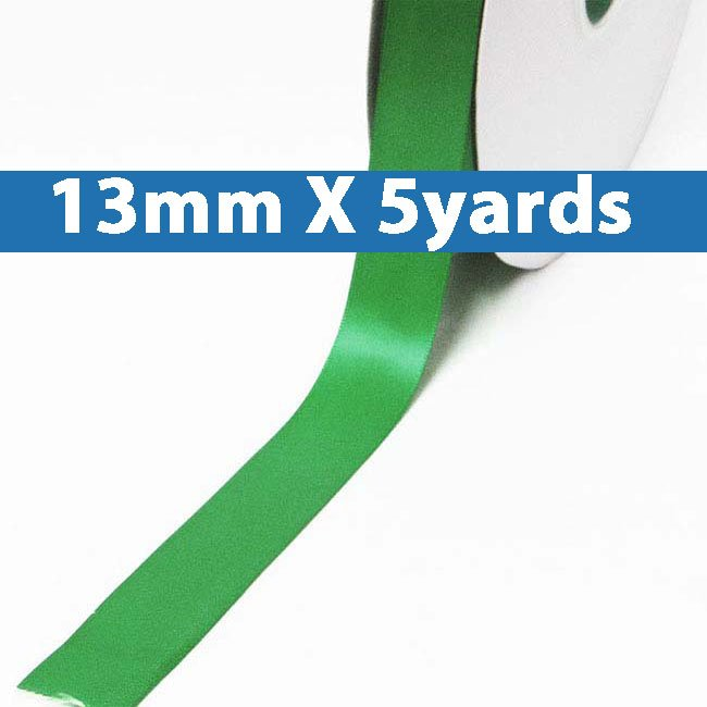 """# 580 emerald Color 13mm/0.5"""" Wide 5 Yards Double Faced Satin Ribbon (#28800 X5 Yards)"""