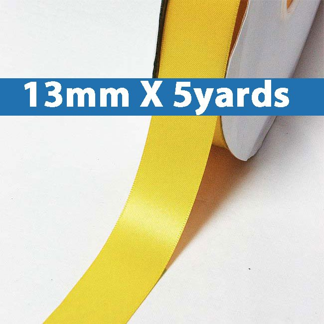 """# 660 yellow gold Color 13mm/0.5"""" Wide 5 Yards Double Faced Satin Ribbon (#28800 X5 Yards)"""
