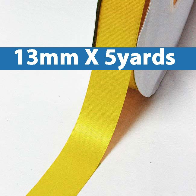 "# 662 dandelion Color 13mm/0.5"" Wide 5 Yards Double Faced Satin Ribbon (#28800 X5 Yards)"