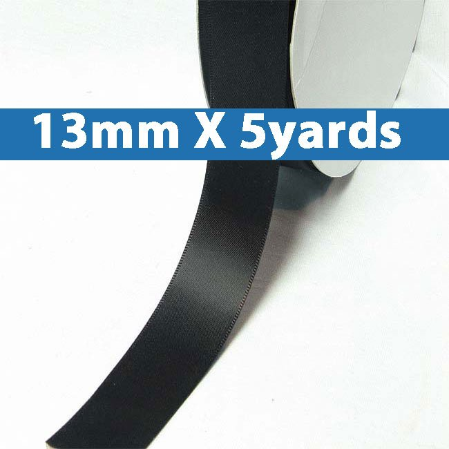 """# 860 licorice Color 13mm/0.5"""" Wide 5 Yards Double Faced Satin Ribbon (#28800 X5 Yards)"""