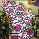 Annie's Attic Q & A Club~ Geometric Floral Afghan~ Free Shipping