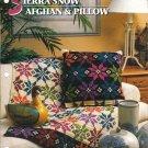 Annie's Attic Q & A Club~ Sierra Snow Afghan & Pillow~ Free Shipping