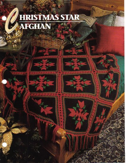 Annie�s Attic Q & A Club~ Christmas Star Afghan~ Free Shipping