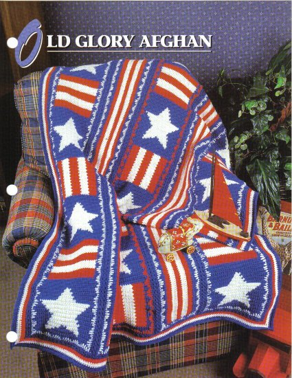 Annie�s Attic Q & A Club~ Old Glory Afghan~ Free Shipping
