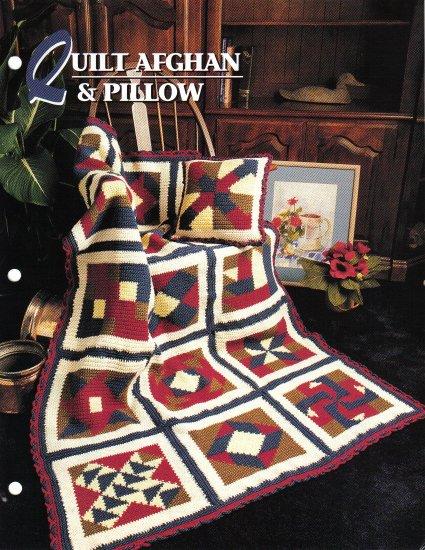 Annie�s Attic Q & A Club~ Quilt Afghan & Pillow~ Free Shipping