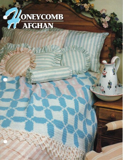 Annie�s Attic Q & A Club~ Honeycomb Afghan~ Free Shipping