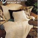 Annie's Attic Q & A Club~ Diamond Shadow Afghan Set~ Free Shipping