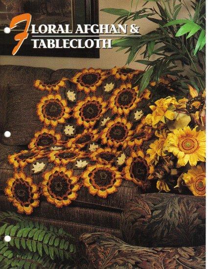 Annie�s Attic Q & A Club~ Floral Afghan & Tablecloth~ Free Shipping