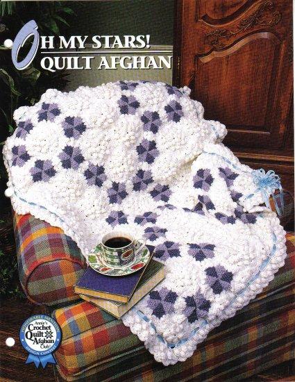 Annie�s Attic Q & A Club~ Oh My Stars! Quilt Afghan~ Free Shipping