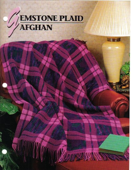 Annie�s Attic Q & A Club~ Gemstone Plaid Afghan~ Free Shipping