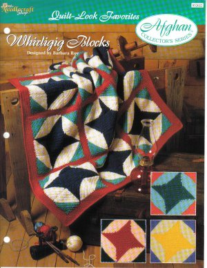 Needlecraft Shop~ Afghan Collector�s Series~ Whirligig Blocks~ Free Shipping