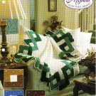 Needlecraft Shop~ Afghan Collector's Series~ Woven Lattice~ Free Shipping