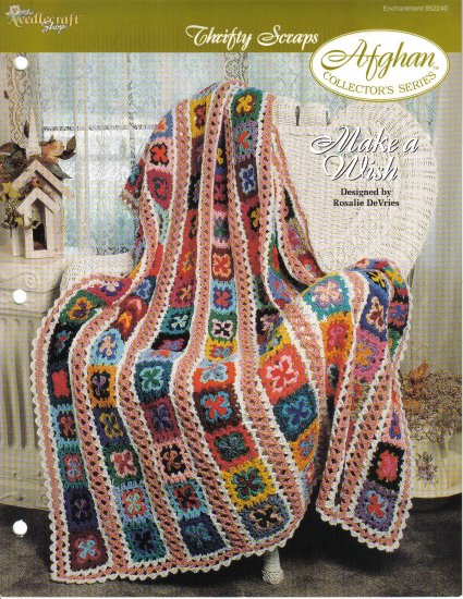 Needlecraft Shop~ Afghan Collector�s Series~ Make A WIsh~ Free Shipping