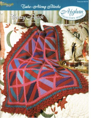Needlecraft Shop~ Afghan Collector�s Series~ Crazy Patch~ Free Shipping