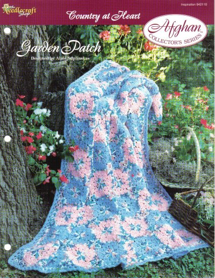 Needlecraft Shop~ Afghan Collector�s Series~Garden Patch~ Free Shipping