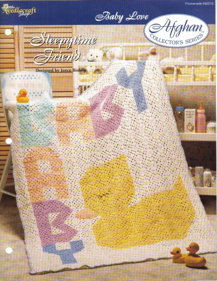 Needlecraft Shop~ Afghan Collector�s Series~ Sleepytime Friend~ Free Shipping