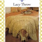 Vanna's Afghan & Crochet Favorites~ Lacy Throw~ Crochet Pattern~ Free Shipping