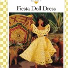 Vanna's Afghan & Crochet Favorites~ Fiesta Doll Dress~ Free Shipping
