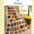 Vanna's Afghan & Crochet Favorites~ Zinnias~ Crochet Pattern~ Free Shipping