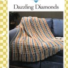 Vanna's Afghan & Crochet Favorites~ Dazzling Diamonds~ Crochet Pattern~ Free Shipping