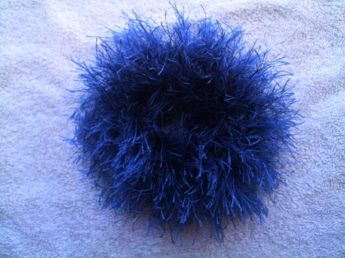 Ponytail Hair Scrunchie~ Sapphire~ Free Shipping
