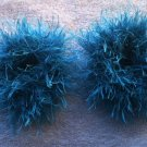 Pigtail Hair Scrunchie Scrunchies Pair~ Turquoise~ Free Shipping