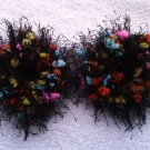 Pigtail Hair Scrunchie Scrunchies Pair~ Electric Slide~ Free Shipping