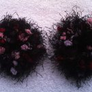 Pigtail Hair Scrunchie Scrunchies Pair~ Mixed Berries~ Free Shipping