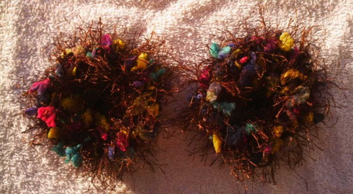 Pigtail Hair Scrunchie Scrunchies Pair~ Chocolate Sprinkles~ Free Shipping